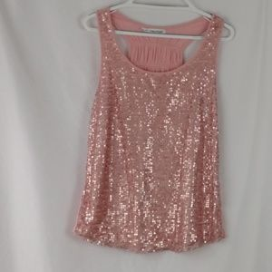 Maurice's size 0 sequence embellished top pink